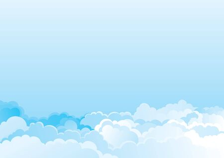 Cloudy sky  Vector color horizontal background of cloudy sky Stock Vector - 17712061