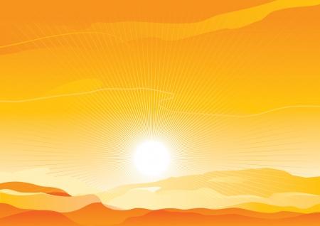 desierto del sahara: paisaje del desierto Vectores