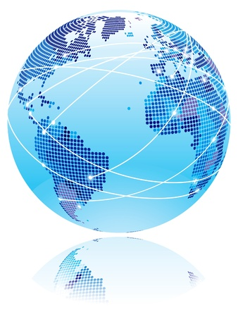 technological: Internet globe  Globe with internet connection lines between world countries