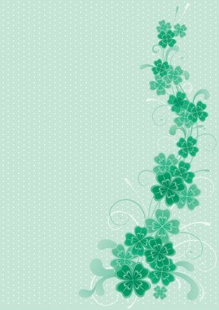 four leafs clover: Clover background  abstract  St  Patrick s Day background with clover leaves