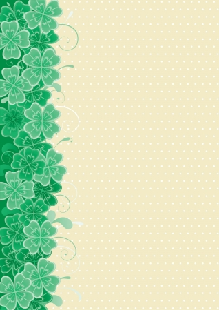 four leafs clover: Clover background  Vector abstract  St  Patrick s Day background with clover leaves   Illustration