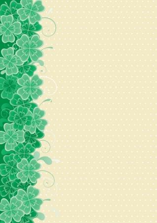 four leafs clover: Clover fondo fondo abstracto del vector St Patrick s Day con hojas de tr�bol Vectores