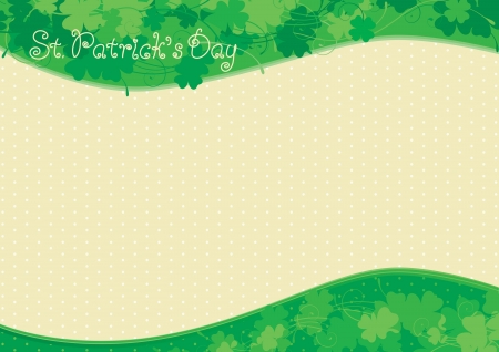 four leafs clover: Background  for St  Patrick s Day Illustration