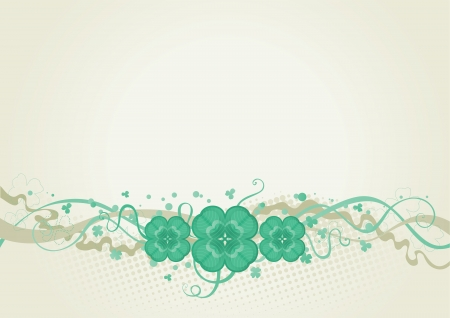 lover background   abstract  St  Patrick s Day border with clover Vector