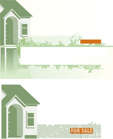 realty residence: backgrounds of the houses Illustration