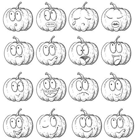affable: Set of pumpkin   Illustration