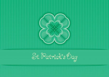 Clover background  Vector abstract  border with clover and text  St  Patrick s Day   Vector