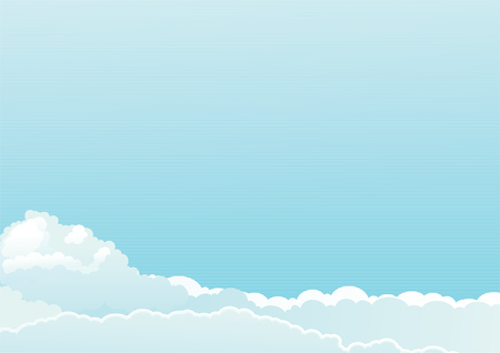 refreshed: Cloudscape  Vector background of color sky with clouds at engraved style Illustration