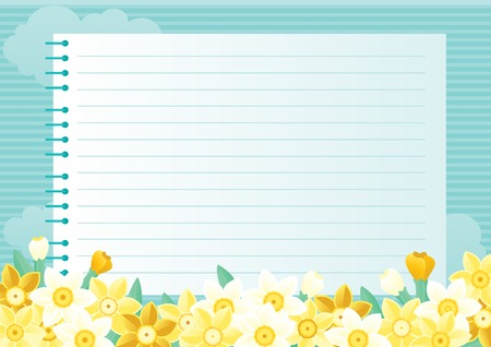 copybook: Spring floral background Illustration