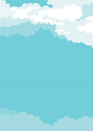 Cloudy sky vertical background of blue sky with clouds  Vector