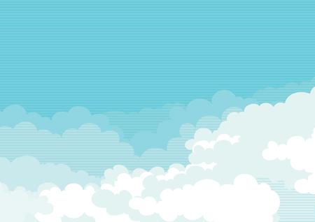 Cloudscape horizontale Hintergrund des blauen Himmel mit Wolken
