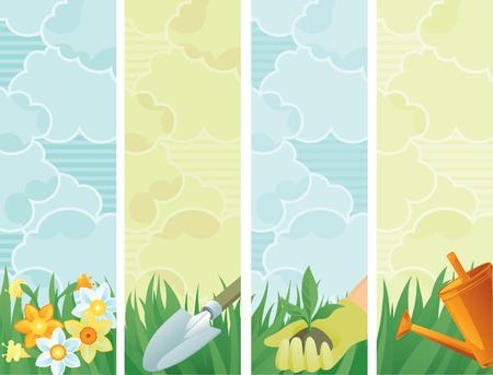 lawn care: Spring in the garden banners of gardening