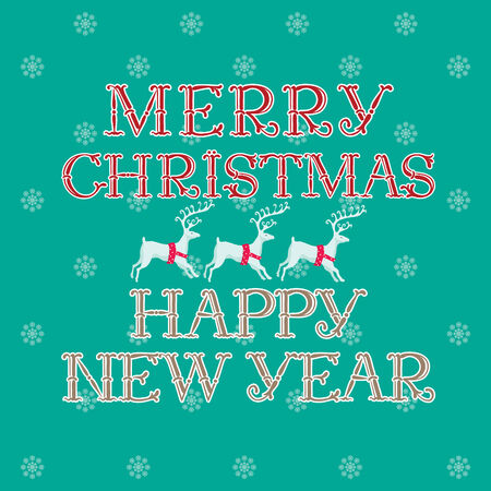 happy new year text: Merry Christmas & Happy New Year! Vector holiday background with text \\\Merry Christmas  & Happy New Year!\\\ Illustration