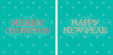 happy new year text: Merry Christmas & Happy New Year! Vector holiday backgrounds with text Merry Christmas  & Happy New Year! Illustration