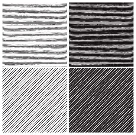 Hatch  patterns. Vector seamless  backgrounds with hatch at doodle style