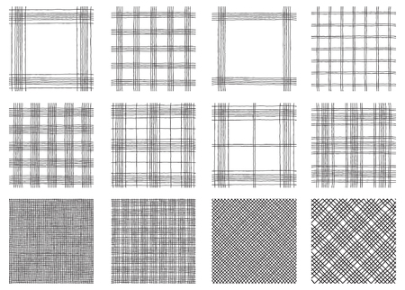 black backgrounds: Tartan  patterns. Vector seamless  backgrounds with Textured tartan plaid.