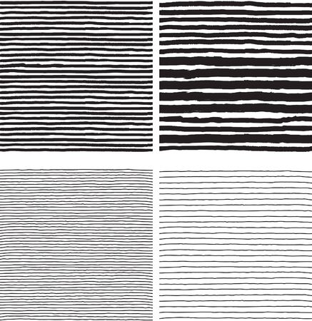 Hatch patterns. Vector seamless backgrounds with hatch