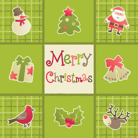 christmas gifts: Merry christmas! Vector christmas card with gifts and  christmas decoration Illustration