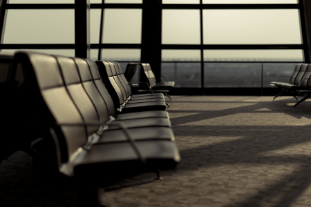 An empty chair row in the waiting lounge Stock fotó
