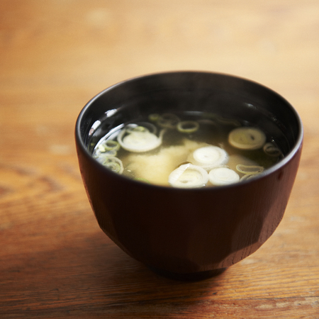 Japanese hot miso soup