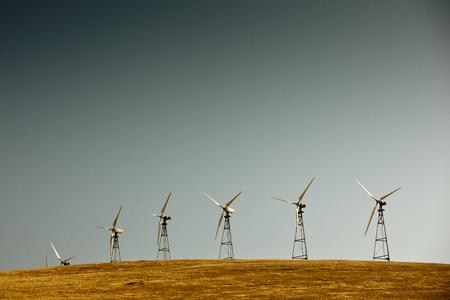 livermore: Wind turbines group in California