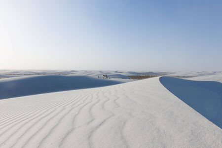 Wind blowing the white desert photo