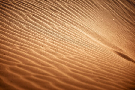 Desert sand closeup texture with golden sunlight  Stock Photo