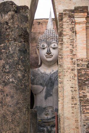 ajana: buddha back the wall.