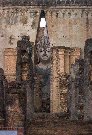 ajana: Buddha at wat sri chum, Sukhothai historical park, Thailand.