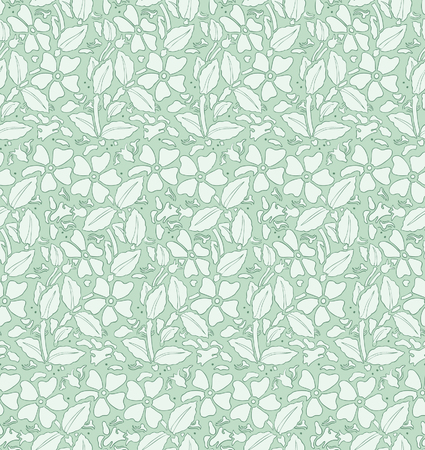 Seamless pattern with flowers. Romantic style. Retro. Vector Vector