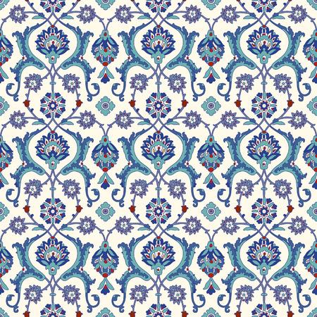 Bloemen Sier patroon. Traditionele Arabische naadloze ornament.