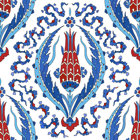 꽃 장식 패턴입니다. 전통적인 아랍어 원활한 장식입니다. 벡터 스톡 콘텐츠 - 40309491