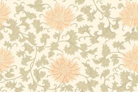 flores chinas: Modelo inconsútil chino. Vendimia Vectores