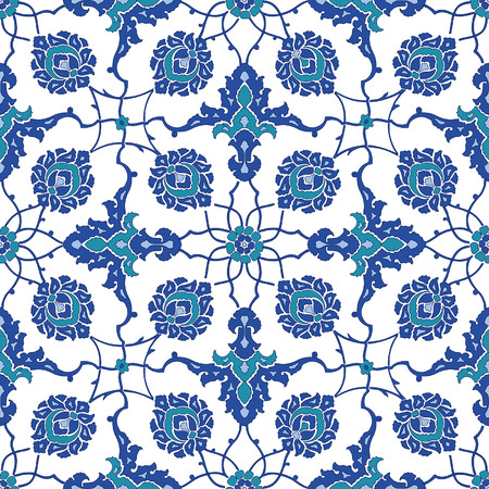 earthenware: Arabic ornament seamless pattern for your design. Vector
