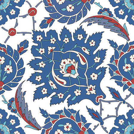 Traditional Arabic ornament seamless pattern for your design. Vector Vector
