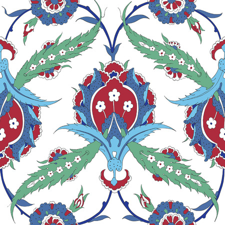 earthenware: Traditional Arabic ornament seamless pattern for your design. Vector Illustration