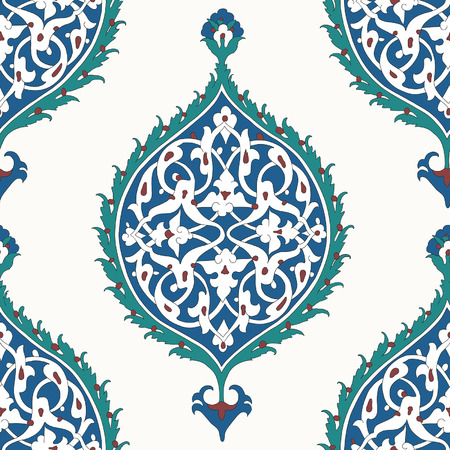 伝統的なアラビア語は、あなたの設計のためのシームレスなパターンを飾り。ベクトル。バック グラウンド  イラスト・ベクター素材