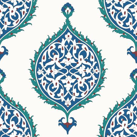 디자인을위한 전통적인 아랍 장식의 원활한 패턴입니다. 벡터. 배경