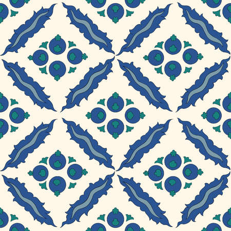 earthenware: Traditional Arabic ornament seamless pattern for your design. Vector. Background