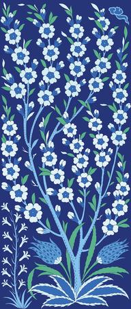 전통적인 아랍어 원활한 장식. 꽃 장식 패턴. 벡터. 배경