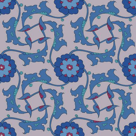 earthenware: Traditional Arabic ornament seamless. Floral Ornamental pattern. Vector. Background