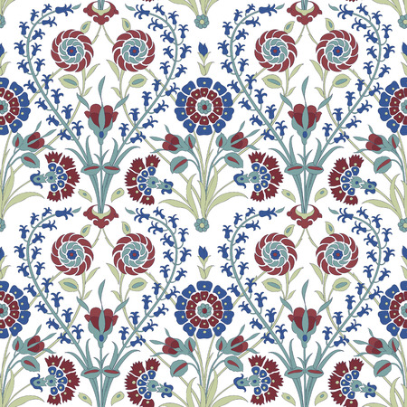 iznik: Traditional Arabic ornament seamless. Floral Ornamental pattern. Iznik .Vector. Background