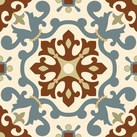 vintage paper: Traditional Arabic ornament seamless. Floral Ornamental pattern. Iznik . Illustration