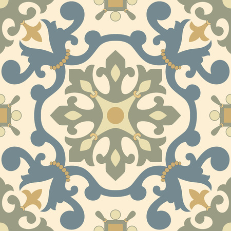 earthenware: Traditional Arabic ornament seamless. Floral Ornamental pattern. Iznik