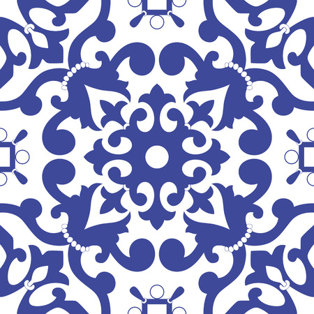 earthenware: Traditional Arabic ornament seamless. Floral Ornamental pattern. Iznik . Illustration