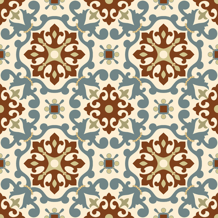 Traditional Arabic ornament seamless. Floral Ornamental pattern. Iznik