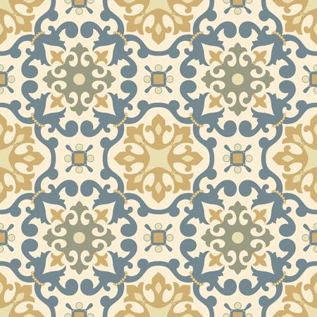 earthenware: Traditional Arabic ornament seamless. Floral Ornamental pattern. Iznik . Illustration
