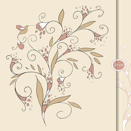 felicitation: card for your design. Greeting card.  Background.