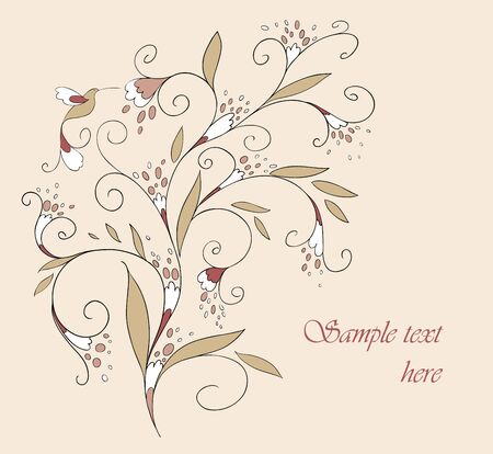gently:  card for your design. Greeting card. Background. Illustration
