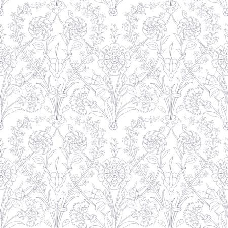 iznik: Traditional Arabic ornament seamless. Floral Ornamental pattern. Iznik . Background. Coloring.